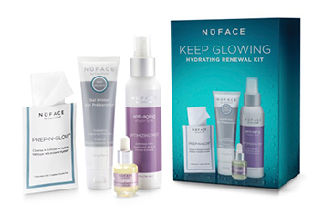 *** AANBIEDING *** NuFACE Keep Glowing Holiday Kit: Maak nu voordelig kennis met deze 4 fantastische producten van NuFACE: Leave on Gel Primer, Prep-N-Glow Cloths, Lifter Serum en Optimizing Mist